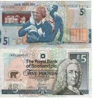 "SCOTLAND   £5  ""The Royal Bank Of Scotland""   P365 Commemorative Jack Nicklaus  14. 7. 2005   UNC - Schotland"