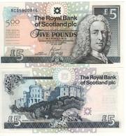 "SCOTLAND   £5  ""The Royal Bank Of Scotland""   P364 Commemorative 500th Anniversary Surgeons 1. 7. 2005   UNC - Scozia"