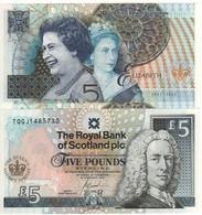 "SCOTLAND   £5  ""The Royal Bank Of Scotland""   P362 Commemorative Queen S Golden Jubilee  6.2.2002   UNC - 5 Pounds"