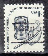 USA Precancel Vorausentwertung Preo, Locals Pennsylvania, Pleasant Unity 843 - Vereinigte Staaten