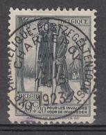 N° 220 ŒUVRE NATIONALE DES INVALIDES DE GUERRE / BELLE OBLITÉRATION EXPOSITION PHILATÉLIQUE DE CHARLEROI 1923 - Used Stamps