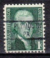 USA Precancel Vorausentwertung Preo, Locals Pennsylvania, Plymouth 841 - Vereinigte Staaten