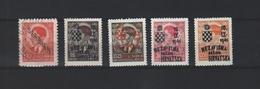 SERVIE 1941 ZEGELS ONGEBRUIKT MET OPDRUK 1X GESTEMPELD - Serbia