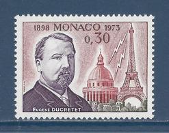 Monaco - YT N° 921 - Neuf Sans Charnière - 1973 - Monaco