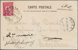 "16373 Türkei - Stempel: 1904, ""ISMID"" Cds. On Postcard Addressed To Hanoi Indo Chine And Forwarded At Arri - Turkey"