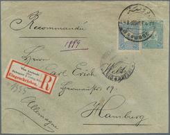 "16374 Türkei - Stempel: 1906, ""BROUSSE"" Cds. On Registered Uprated Used Postal Stationery Envelope With La - Turkey"