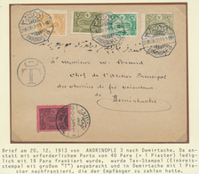 "16375 Türkei - Stempel: 1913, ""ANDRINOPLE 3 - 20/12/13"" Octogonal Ds. On Cover Bearing 19 Para Underfranke - Turkey"