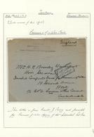 16376 Türkei - Stempel: 1917, POW Cover Written By J.Perry In Gelebek Bozanti, Tied By Boxed Censormark Is - Turkey