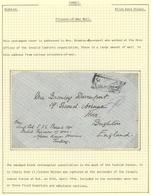 16377 Türkei - Stempel: 1918 Ca., British POW Cover Written In AFION KARAHISAR (Turkey) By Lt. Col. Baines - Turkey