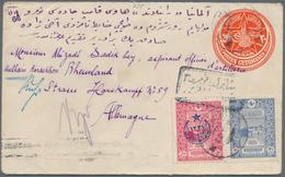"""16381 Türkei - Stempel: 1917, Fieldpost 20 Para Postal Stationery Envelope Used Uprated, Tied By """"SAHRA PO - Turkey"""