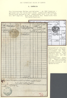 "16389 Türkei - Stempel: 1850, GALATZ ROMANIA : ""AN CANIB-I POSTA-I KALAS"" Prefilatelic Cancellation In Blu - Turkey"