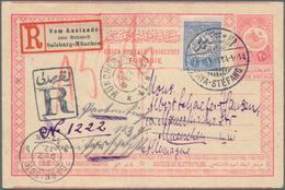 "16392 Türkei - Stempel: 1912, ""AYA-STEFANO 24/10/1912"" Cds. On 20 Para Postal Stationery Card Used Uprated - Turkey"
