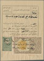 16399 Türkei - Besonderheiten: 1904 (1320) REVENUES: Two Scarce Revenue Stamps With Cancellation In Manusc - Turkey