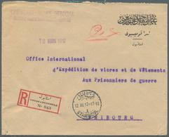 "16400 Türkei - Besonderheiten: 1917, Registered Letter From ""CROISSANT ROUGE OTTOMAN"" On Preprinted POW - - Turkey"