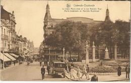8Eb-848:  Ostende-Oostende La Place Marie-José Et La Rue Adophe Buyl... Pharmacie  Links En Rechts... - Oostende