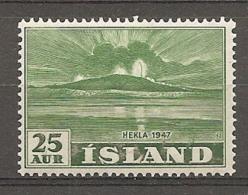ISLAND - 1938 Yv. N°  209   ** MNH   25a  Volcan  Cote  2,1  Euro TBE  2 Scans - 1944-... Republik