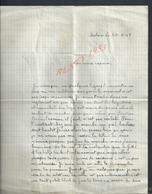 MILITARIA LETTRE D UN MILITAIRE CHASSEUR BERTHOUD ROBERT 9 R C A ECRITE DE BATNA ALGÉRIE : - Unclassified