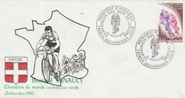 ANDORRE 1980 FDC - Championnat Du Monde De Cyclisme Sallanches Bernard Hinault  Champion - FDC