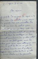 MILITARIA LETTRE D UN MILITAIRE CHASSEUR BONNET GEORGES 5e B C P ECRITE DE TIZI OUZOU  ALGÉRIE : - Unclassified