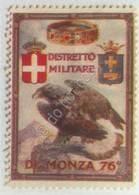 Erinnofilia - Chiudilettera - Regno D'Italia - 76° Distretto Militare Di Monza - Italie