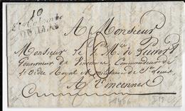 1828 - AUDE - LETTRE De STE COLOMBE QUILLAN Avec CURSIVE  => VINCENNES - IND 18 - 1801-1848: Vorläufer XIX