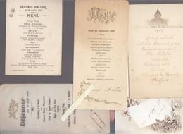 Lot De 8 Menus Anciens - 1905 / 1909 - Bon Ensemble Représentatif De L'époque - Menükarten