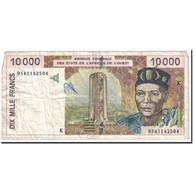 Billet, West African States, 10,000 Francs, 1995, KM:714Kf, TB - États D'Afrique De L'Ouest