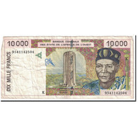 Billet, West African States, 10,000 Francs, 1995, KM:714Kf, TB - West African States
