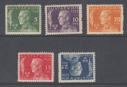Sweden 1924 -  Michel 208-212 Mint Hinged *, Ref 03-94 - Schweden