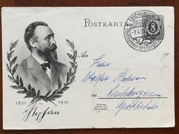 K5 Deutsches Reich Ganzsache Stationery Entier Postal P 211 Ortskarte Von Leichlingen - Allemagne