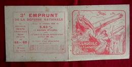 CALENDRIER NATIONAL De L' EMPRUNT 1918 MILITARIA GUERRE 1914-18 Illustré Par Victor Prouvé - Calendriers