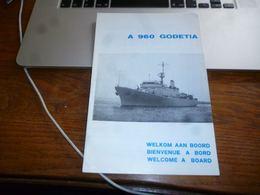 CB3F1 Document Présentation A960 Godetia Navire Armée Belge Militaria 16p Marine Force Naval - Bateaux