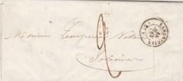 Lettre LANDRECIES Nord 18/6/1848 Taxe Manuscrite 2 Pour Solesmes - 1801-1848: Précurseurs XIX