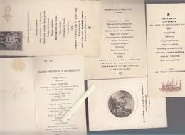 Lot De 9 Menus Anciens - 1925 / 1929 - Bon Ensemble Représentatif De L'époque - Menükarten