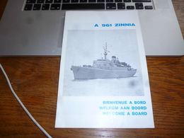 CB3F1 Document Présentation A961 Zinnia Navire Armée Belge Militaria 16p Marine Force Naval 12p - Boats