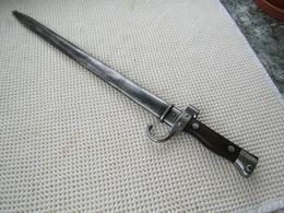 Baïonnette Berthier Modèle 1892 Du 1er Type - Knives/Swords