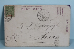 1906  CARTE  POSTALE  DU  JAPON    PARTIE  DE  SAINT  DENIS  POUR  HANOÏ - Réunion (1852-1975)