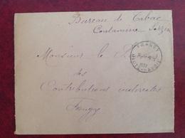 Bureau De Tabac Contamine Sarzin Frangy Franchise 1937 - Frankobriefe