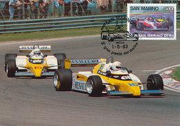 D33621 CARTE MAXIMUM CARD TRIPLE 1983 SAN MARINO - GRAND PRIX SAN MARINO  CP ORIGINAL - Automobile