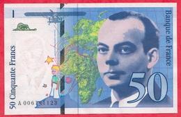 """50 Francs """"St Exupéry"""" 1993 N°A.006181123 .....AU/SPL - 1992-2000 Last Series"""