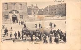 54 - MEURTHE ET MOSELLE / Lunéville - 543938 - Le Château - Eléphants - Beau Cliché Animé - Défaut - Luneville