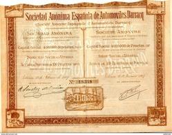 Sociedad Anonima Espanola De  AUTOMOVILES DARRACQ - Shareholdings
