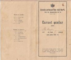 STUDENTS SCHOOL BOOK, PRIMARY SCHOOL, 5TH GRADE, 1931, ROMANIA - Diploma & School Reports