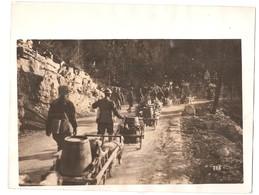 Photo 1914 1918 Chariot De Chien Armée Francaise ( Avec Boïtes De Vin ?) - Oorlog 1914-18