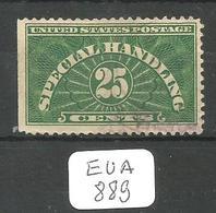 EUA SPECIAL HANDLING Scott QE4a Ob - Parcel Post & Special Handling
