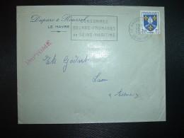 L. TP SAINTONGE 5F OBL.MEC.13-8 1956 LE HAVRE ENTREPOT SEINE MME (76) CONSOMMEZ BEURRE FROMAGES DE SEINE-MARITIME - Oblitérations Mécaniques (flammes)