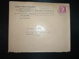 L. TP M.DE MULLER 15F OBL.MEC.19-11 1955 LE HAVRE ENTREPOT SEINE MME (76) CONSOMMEZ BEURRE FROMAGES DE SEINE-MARITIME - Oblitérations Mécaniques (flammes)
