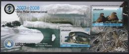 Uruguay (2008) Yv. Bf. 86  /  Antarctic - Polar - Seals - Birds - Preservare Le Regioni Polari E Ghiacciai
