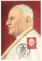 D33636 CARTE MAXIMUM CARD 1969 GERMANY - POPE JOHANNES XXIII CP ORIGINAL - Popes