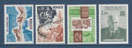 Monaco - YT N° 855 à 858 - Neuf Sans Charnière - 1971 - Monaco